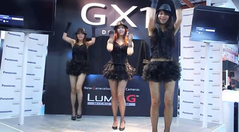 台北資訊月 Panasonicブース コンパニオンの網タイツがセクシーなダンス